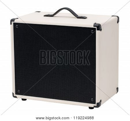 Guitar Amplifie. Isolated On White