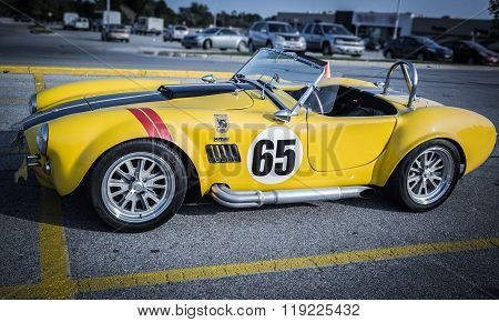 side view of old race sport vintage retro classic car