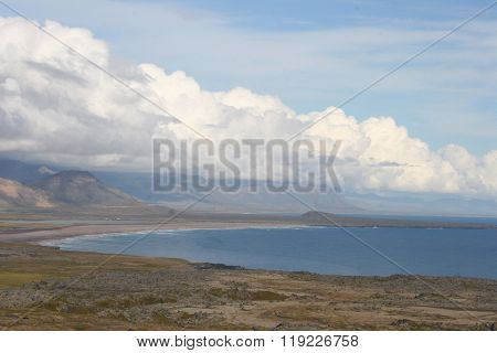 Sky clouds sea beach
