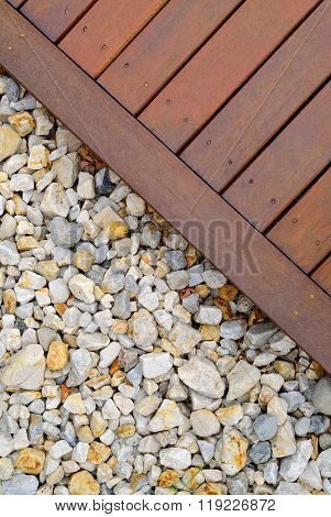Combinations Of Timber Decking And Rocks