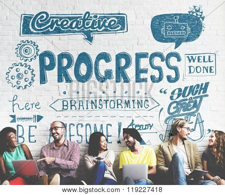 Progress Improvement Growth Progressive Development Concept