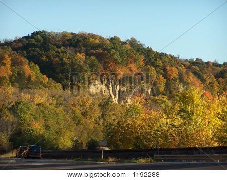 River Bluff In Autumn