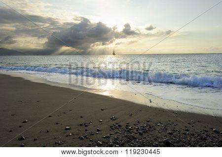 Sailboat Sunrays