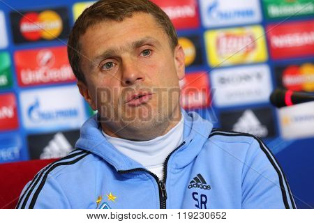 Press-conference Before Uefa Champions League Game Dynamo Kyiv Vs Manchester City In Kyiv, Ukraine