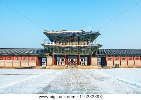 Gyeongbokgung Palace In Seoul,korea