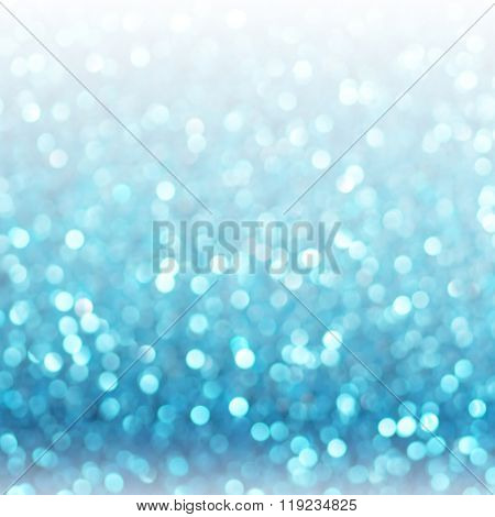 Defocused abstract blue lights background . bokeh lights. concept.
