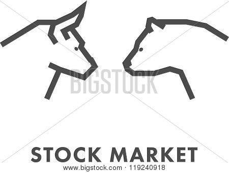 Line Design Concept For Stock Market.