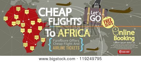 Cheap Flight To Africa 1500X600 Banner.