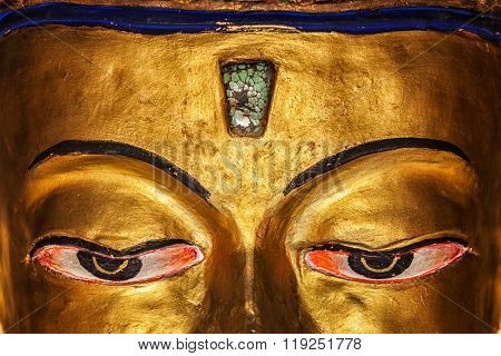Eyes of Maitreya Buddha