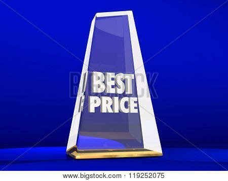 Best Price Lowest Cost Value Deal Sale Award Trophy