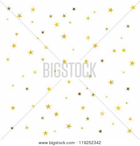 Abstract Pattern Of Gold Stars