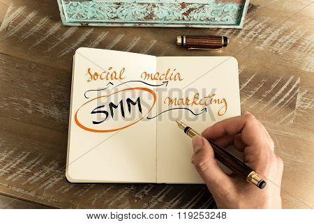 Business Acronym Smm As Social Media Marketing