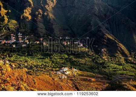 Landscape view on the western part of La Gomera island