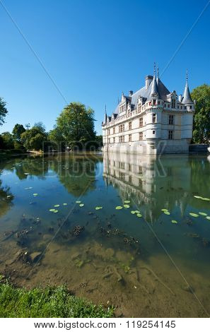 Castle of Azay le Rideau, Loire Valley, France.