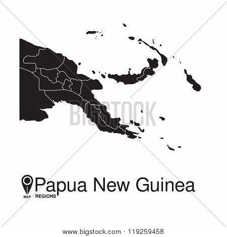 Papua New Guinea Map Regions