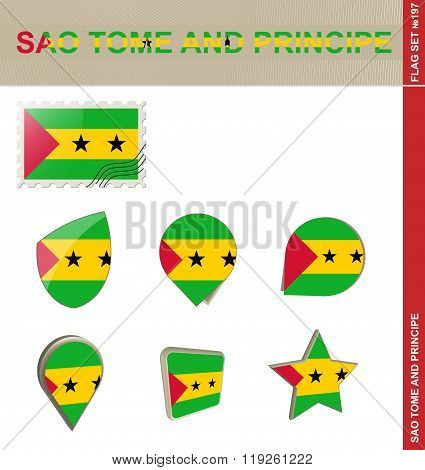 Sao Tome And Principe Flag Set, Flag Set