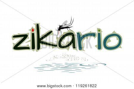 Dangerous Mosquito - Virus Alert Vector Illustration