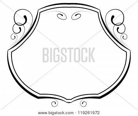 Vector Decorative Frame On White Background