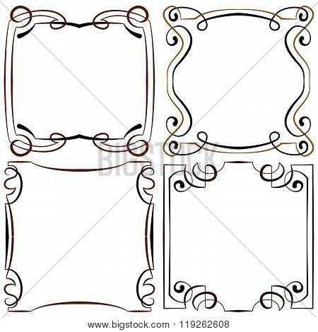 Set Of Four Decorative Multilayer Frameworks