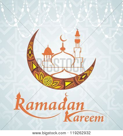 Golden moon.Ramadan Kareem