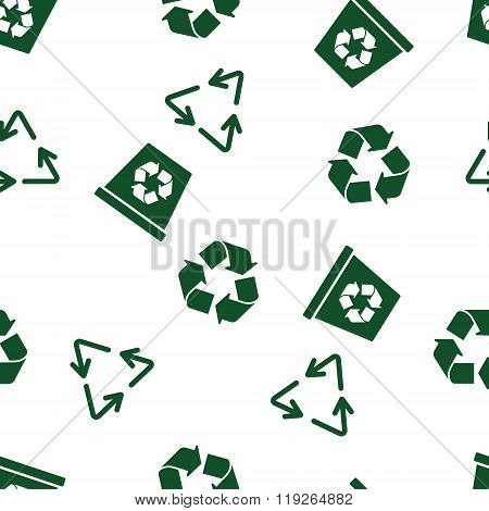 Recycle Seamless Seamless Flat Vector Pattern