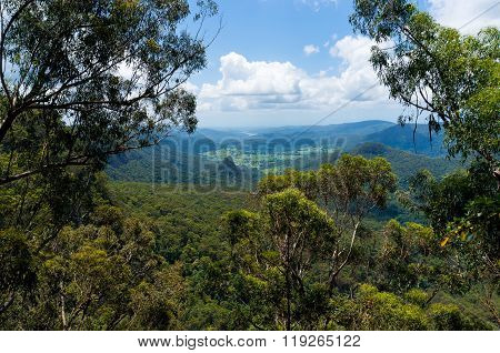 Beautiful valley in tropical rainforest view from above