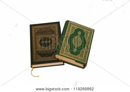 Koran on white background