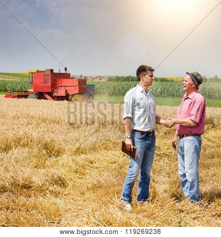 Men In The Wheat Field At Harvest