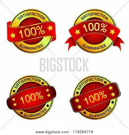Satisfaction & Guarantee Logo for vector design. Satisfaction & Guarantee Logo isolated on white bac