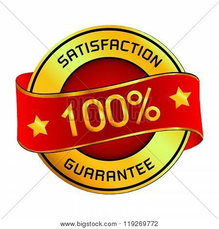 Satisfaction & Guarantee Logo. Satisfaction & Guarantee Logo isolated on white background.