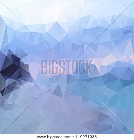 Polygonal Mosaic Abstract Geometry Background Landckape In Blue