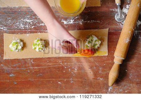 Cooking Succulent Ravioli.