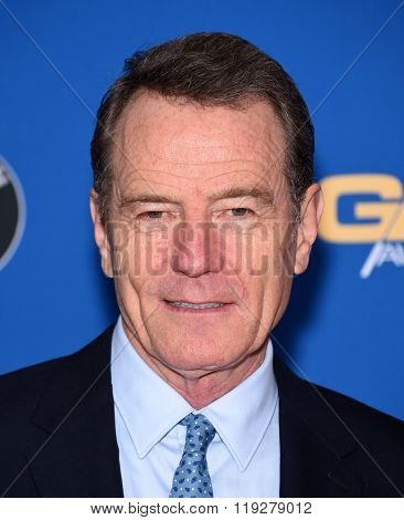 LOS ANGELES - FEB 06:  Bryan Cranston arrives to the Directors Guild Awards 2016  on February 06, 2016 in Century City, CA.