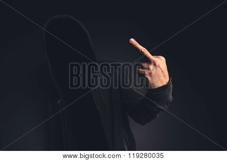 Middle Finger Offensive Hand Gesture