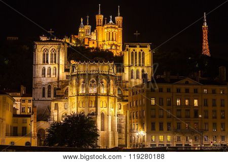 Cathedrals In Lyon, France