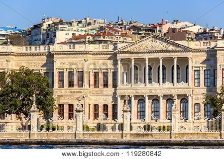 Dolmabahce palace, view from Marmara sea