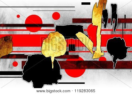 Abstract oil painting illustration