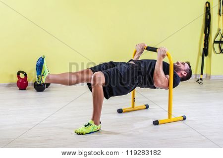 Young man at gym
