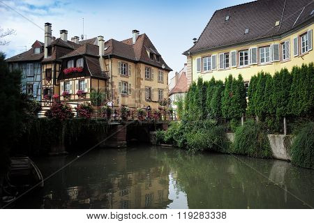 Houses On Channel In Colmar