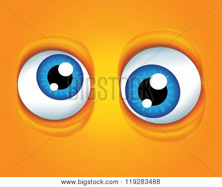 Vector illustration, background with eyes