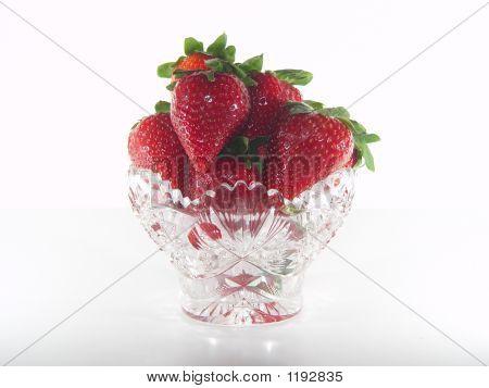Crystal Bowl Of Strawberries