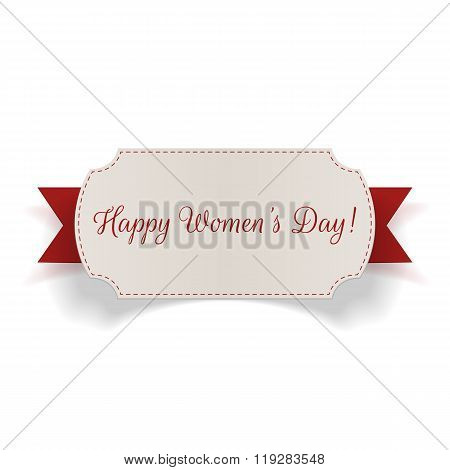 Womens Day greeting realistic vector Banner