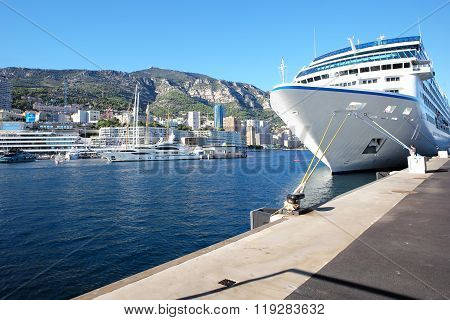 Big Boat In Port Of Monte Carlo