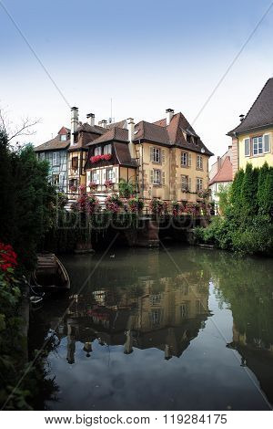 Canal With Houses In Colmar