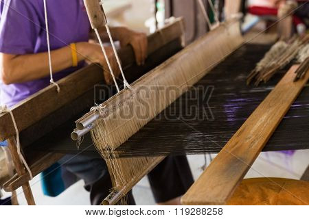 Woman Weave Thailand Traditional Textile