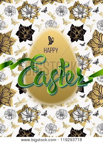 Happy Easter. Sign symbol logo on a seamless background