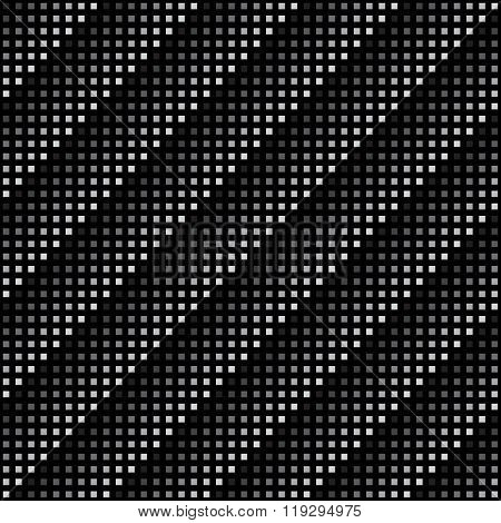 Vector Geometric Seamless Pattern. Repeating Abstract Square Gradation In Black And Grey.