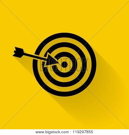 Target Icon Vector. Targeting, Vector, Arrow, Objective, Darts.