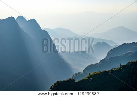 Beautiful Layers Of Mountain Landscape