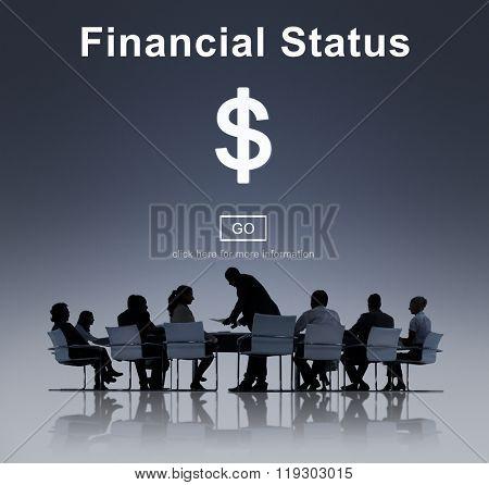 Financial Status Money Cash Dollar Sign Concept